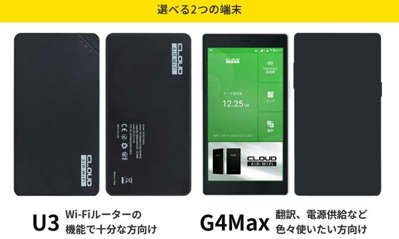 クイックWiFi 端末 U3 G4Max